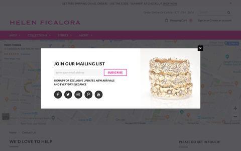Screenshot of Contact Page helenficalora.com - Contact Us – Helen Ficalora - captured Sept. 22, 2018