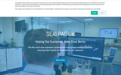 Screenshot of Home Page sealpac-uk.com - SEALPAC UK - Tray Sealers, Thermoformers & Processing Machines - captured May 24, 2019