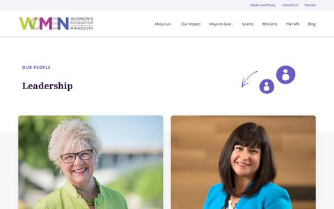 Screenshot of Team Page wfmn.org - Our Leadership, Staff, and People | Women's Foundation of Minnesota - captured Oct. 25, 2017