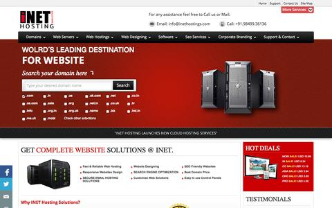 Screenshot of Home Page Privacy Page inethostings.com - Website Designing Company | Domain Hosting | SEO - Hyderabad,India | INET - captured Oct. 3, 2014