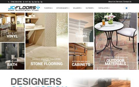 Screenshot of Home Page jcfloorsplus.com - JC Floors Plus - Flooring and Home Improvement Store in Pompano Beach - captured Sept. 30, 2014