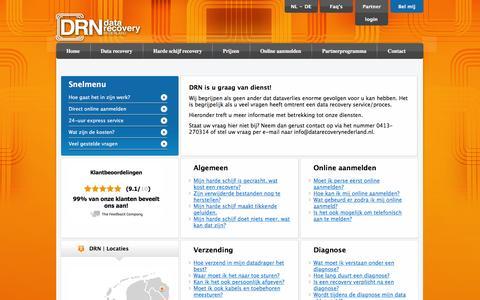Screenshot of FAQ Page datarecoverynederland.nl - Veel gestelde vragen - - captured Jan. 7, 2016