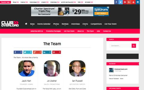 Screenshot of Team Page cluboverload.com - The Team - Cluboverload.com - captured Jan. 29, 2016