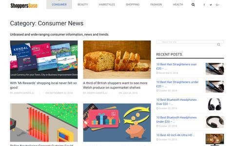 Screenshot of Press Page shoppersbase.com - Consumer News - ShoppersBase - captured Nov. 14, 2018