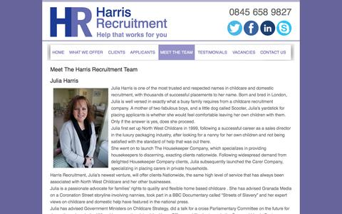 Screenshot of Team Page harrisrecruitment.co.uk - Harris Recruitment | Meet the Harris Recruitment Team | Harris Recruitment - captured Sept. 29, 2014