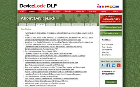 Screenshot of Case Studies Page devicelock.com - Actual IT Security Case Studies | IT security company Devicelock - captured Aug. 4, 2017