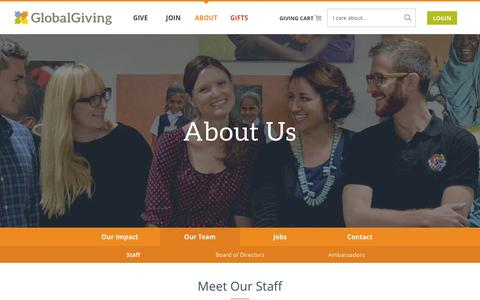 Screenshot of Team Page globalgiving.org - Our Team - GlobalGiving - captured Dec. 19, 2015