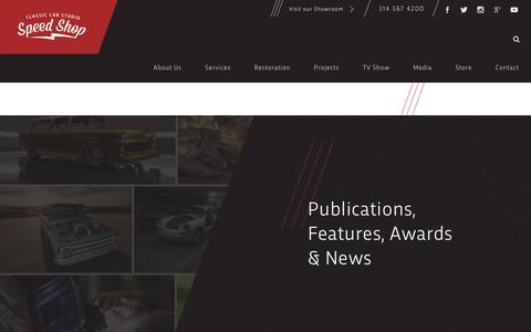 Screenshot of Press Page classiccarstudio.com - Media Coverage | CCS Speed Shop - captured Dec. 8, 2018