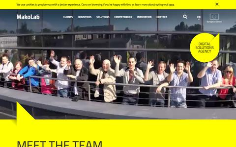 Screenshot of Team Page makolab.com - Meet our team - People - MakoLab - captured Oct. 24, 2018