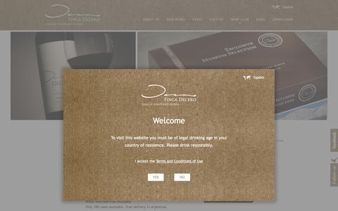 Screenshot of Signup Page decero.com - Wine Club | Finca Decero - captured Feb. 10, 2016