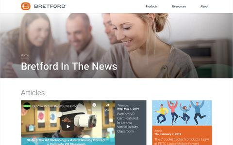 Screenshot of Press Page bretford.com - Company News | Bretford - captured July 26, 2019