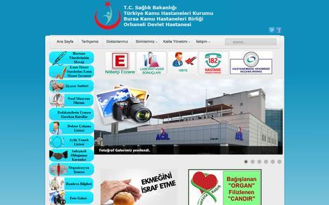 Screenshot of Home Page saglik.gov.tr - Orhaneli Devlet Hastanesi - Ana Sayfa - captured March 6, 2017