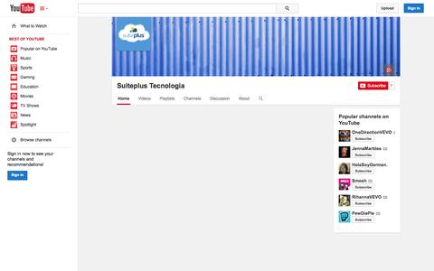 Screenshot of YouTube Page youtube.com - Suiteplus Tecnologia  - YouTube - captured Oct. 26, 2014