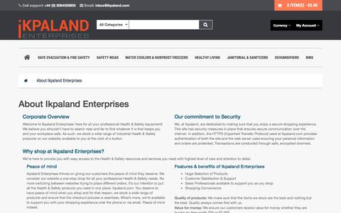 Screenshot of About Page ikpaland.com - About Us - captured Sept. 8, 2016