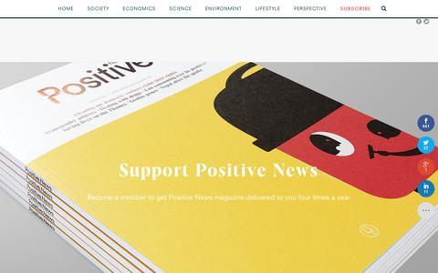 Screenshot of Signup Page positivenews.org.uk - Positive News - join - captured July 14, 2016