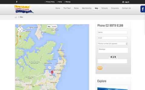 Screenshot of Maps & Directions Page skipperaclipper.com.au - Map - captured Oct. 26, 2014