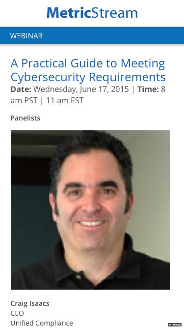 WEBINAR: A Practical Guide to Meeting Cybersecurity Requirements