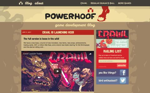 Screenshot of Home Page powerhoof.com - Powerhoof | I will hoof you! - captured May 20, 2017
