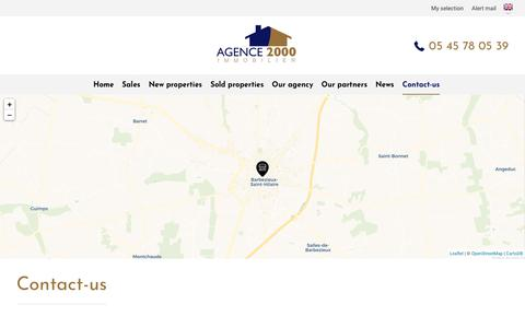 Screenshot of Contact Page agence2000.com - Contact-us | Real estate Charente - Houses to sell in Charente - captured Oct. 3, 2018