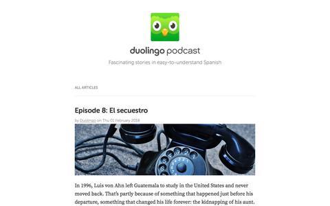 Duolingo Podcast Blog