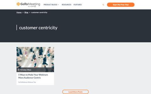 Screenshot of Support Page gotomeeting.com - customer centricity Archives - GotoMeeting - captured June 13, 2019