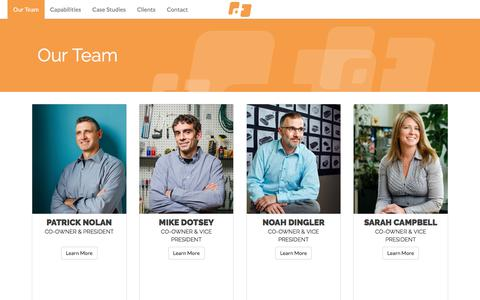 Screenshot of Team Page designthinkstudios.com - Our Team - DesignThink - captured Oct. 12, 2017