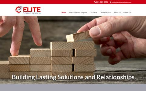 Screenshot of Home Page elitetelecomsolutions.com - Elite Telecom Solutions | 801-901-0757 - captured May 16, 2017