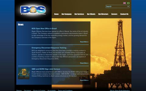 Screenshot of Press Page bladeoffshore.com - News | Blade Offshore - captured Oct. 5, 2014