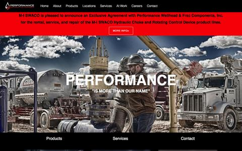 Screenshot of Home Page pwfrac.com - Performance Wellhead & Frac Components Inc – Performance Wellhead & Frac Components Inc - captured Nov. 5, 2016