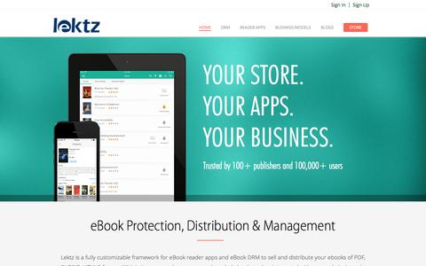 Screenshot of Home Page lektz.com - Lektz-Home Page - captured Sept. 7, 2015