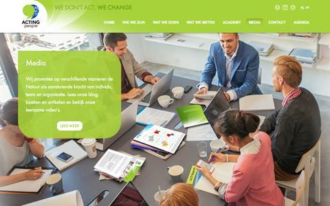 Screenshot of Press Page actingpeople.nl - Trainings- en Adviesbureau Den Haag   Actingpeople   Media - captured Sept. 26, 2014