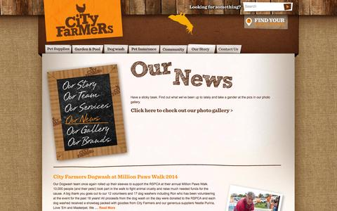 Screenshot of Press Page cityfarmers.com.au - Our News   City Farmers - captured Sept. 23, 2014