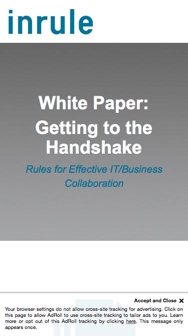 InRule White Paper - Getting to the Handshake