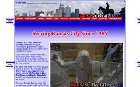 Screenshot of Home Page kansascitycrates.com - Kansas City Crates │816-550-9883 Residential & Commercial Crating, On-Site Service, Large Project Management - captured Oct. 6, 2014