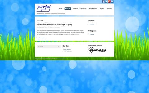Screenshot of Blog surelocedging.com - Blog – Sure-Loc Edging - captured Oct. 7, 2014
