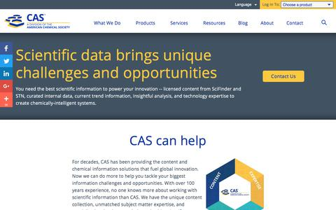 Screenshot of Services Page cas.org - Lending A Hand To Drive Innovation | CAS - captured April 29, 2018
