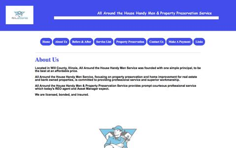 Screenshot of About Page allaroundthehousehandymen.com - AATH - captured Oct. 5, 2014