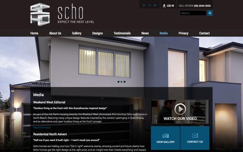 Screenshot of Press Page schohomes.com.au - Media   SCHO Homes - captured Oct. 4, 2014