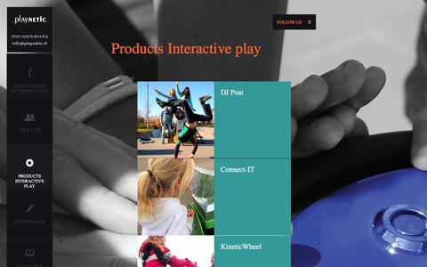 Screenshot of Products Page playnetic.nl - Playnetic : Products Interactive play - captured Jan. 28, 2016