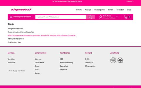 Screenshot of Team Page airproduct.ch - Team - captured May 11, 2018