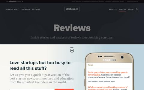 Reviews | Startups.co