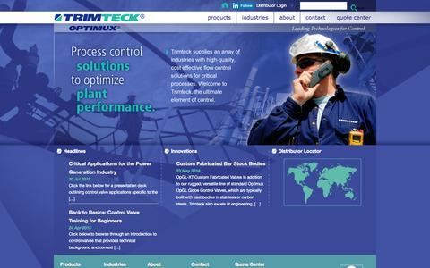 Screenshot of Home Page trimteck.com - Trimteck - captured Aug. 16, 2015