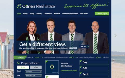 Screenshot of Home Page obrienrealestate.com.au - Home - Obrien Real Estate - captured Oct. 7, 2014