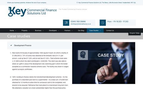 Screenshot of Case Studies Page keycommercialfinance.co.uk - Finance Case Studies   Key Commercial Finance - captured Nov. 27, 2016