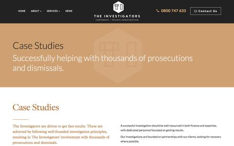 Screenshot of Case Studies Page theinvestigators.co.nz - Private Investigator Case Studies | Auckland, NZ - captured Oct. 25, 2017