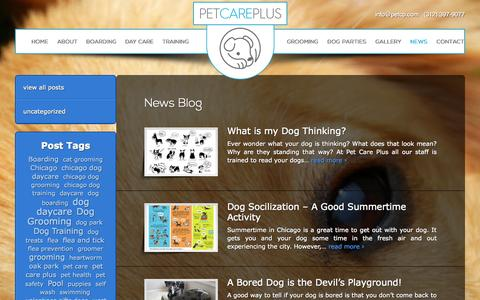 Screenshot of Press Page petcp.com - Pet Care Plus - Dog Boarding, Daycare, Grooming, Training & More - captured Oct. 2, 2014