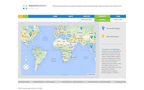 Screenshot of Locations Page pepractice.com - PositivEnergy Practice - captured Oct. 8, 2014