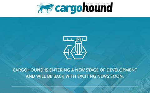 Screenshot of Home Page cargohound.com - Cargohound - Development - captured May 14, 2017