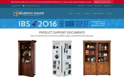 Screenshot of Support Page themurphydoor.com - Support | The Murphy Door - captured Nov. 11, 2015