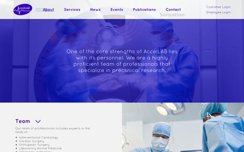 Screenshot of Team Page accellab.com - Preclinical Research Team | AccelLAB - captured Feb. 5, 2016